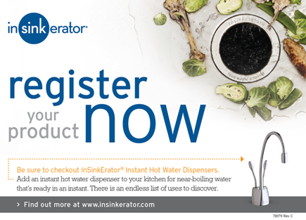 Register Your Product | InSinkErator | Emerson